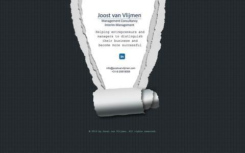 Screenshot of Home Page joostvanvlijmen.com - Joost van Vlijmen Management Consultancy - captured Oct. 6, 2014