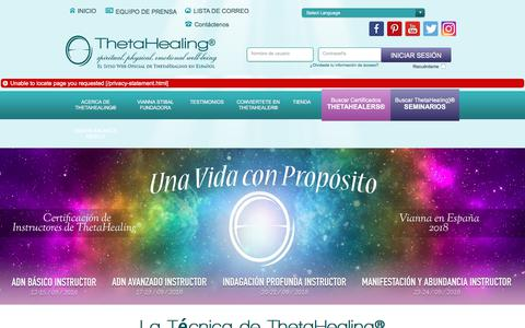 Screenshot of Home Page Privacy Page thetahealing.mx - ThetaHealing - Theta Healing - Vianna Stibal - captured July 11, 2018