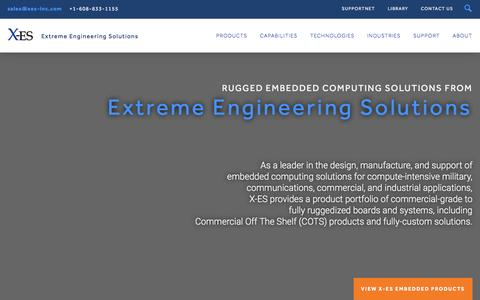 Screenshot of Home Page xes-inc.com - Rugged & Commercial Embedded Computing Solutions For The Harshest Environments - Extreme Engineering Solutions, Inc - captured Jan. 22, 2016