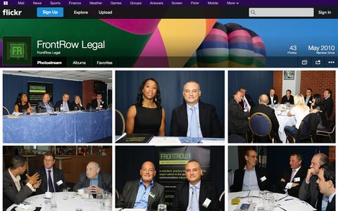 Screenshot of Flickr Page flickr.com - Flickr: FrontRow Legal's Photostream - captured Oct. 25, 2014