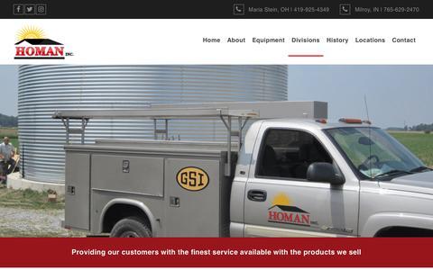 Screenshot of Services Page homaninc.com - Services | Homan, Inc. - captured July 21, 2018