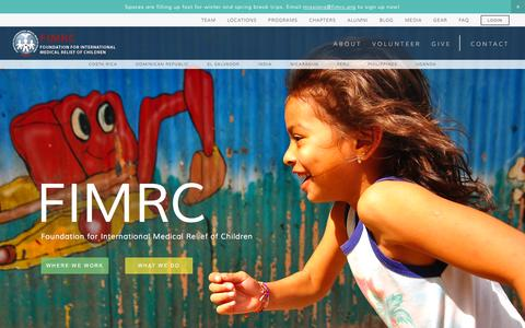 Screenshot of Home Page fimrc.org - FIMRC - captured Dec. 4, 2015