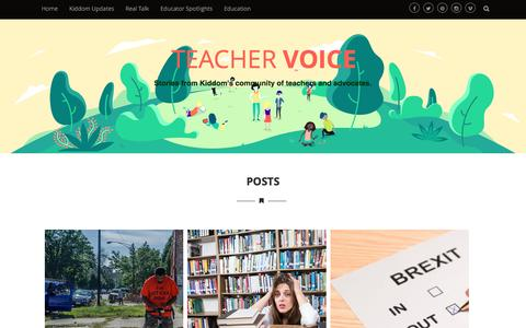 Screenshot of Blog kiddom.co - Teacher Voice – Stories from Kiddom's community of teachers and advocates. - captured Aug. 9, 2016
