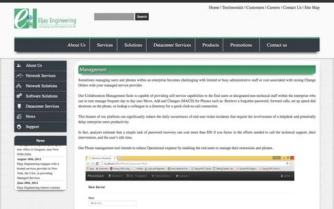 Screenshot of Team Page eljayindia.com - Management | Outsourced Network Support | Cisco Unified Communications Design - captured Nov. 5, 2016