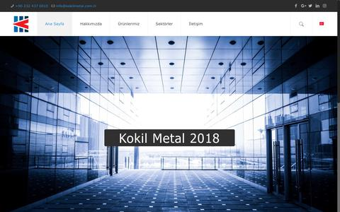 Screenshot of Home Page kokilmetal.com.tr - Kokil Metal - Alüminyum Döküm - captured Sept. 20, 2018
