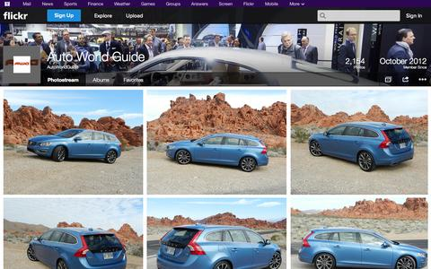 Screenshot of Flickr Page flickr.com - Flickr: AutoWorldGuide's Photostream - captured Oct. 23, 2014