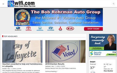 Screenshot of Home Page wlfi.com - Home - captured Nov. 7, 2018