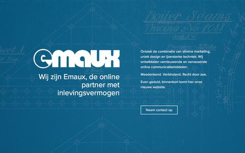 Screenshot of Home Page emaux.nl - Emaux - Internet & Media - captured Nov. 6, 2016