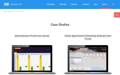 Screenshot of Case Studies Page scheduler-net.com - ASP.NET Scheduler   Event Calendar for ASP.NET - Case studies - captured Oct. 30, 2017