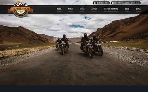 Screenshot of Team Page himalayanexplorers.co.in - The Team | Himalayan Explorers - captured Dec. 10, 2015