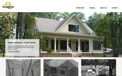 Screenshot of Home Page uimagineit.com - Imagine INC – Building you the strongest home - captured Oct. 6, 2014