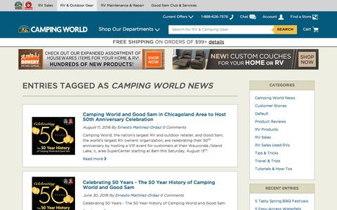 Entries Tagged as Camping World News  - Camping World