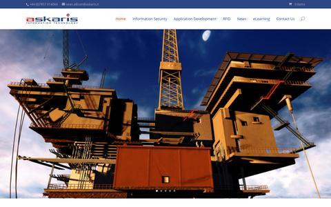 Screenshot of Home Page askaris.it - Askaris Information Technology | RFID - captured Sept. 11, 2015