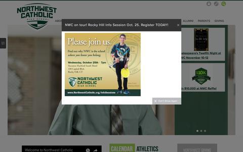 Screenshot of Home Page northwestcatholic.org - Northwest Catholic - captured Oct. 23, 2017