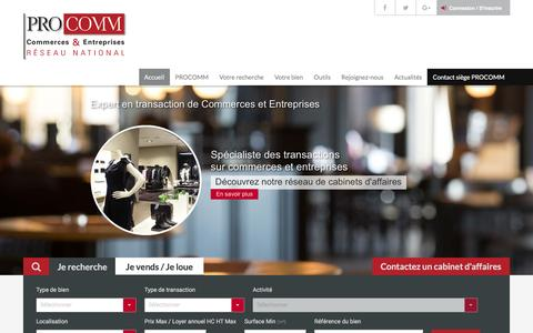 Screenshot of Home Page procomm.fr - Accueil | PROCOMM - captured Oct. 9, 2016