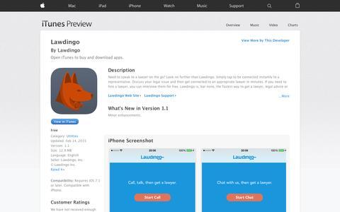Screenshot of iOS App Page apple.com - Lawdingo on the App Store - captured Nov. 17, 2015