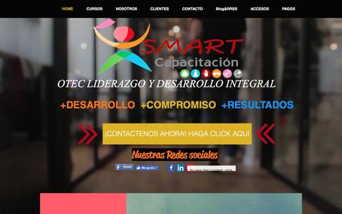 Screenshot of Home Page smart-capacitacion.com - Smart Capacitacion - Chile - captured Oct. 18, 2018