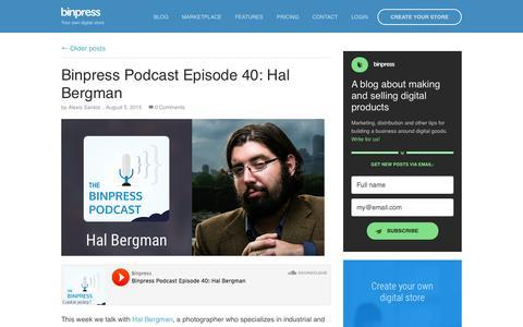 Screenshot of Blog binpress.com - Binpress   Commercial Open-Source - captured Oct. 1, 2015