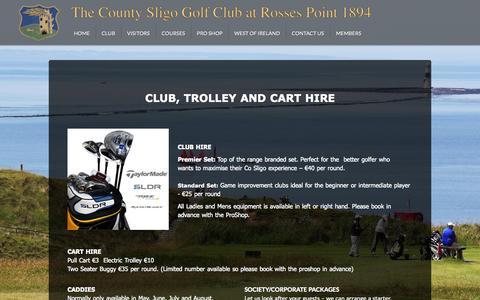 Screenshot of Services Page countysligogolfclub.ie - Services - The County Sligo Golf Club - captured Oct. 27, 2014