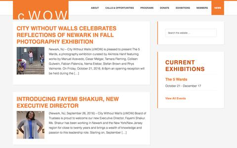Screenshot of Press Page cwow.org - Press Releases - captured Nov. 6, 2016