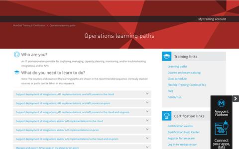 Operations learning paths - MuleSoft Training & Certification