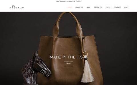 Screenshot of Home Page oliveve.com - oliveve, oliveve handbags - captured Dec. 6, 2016