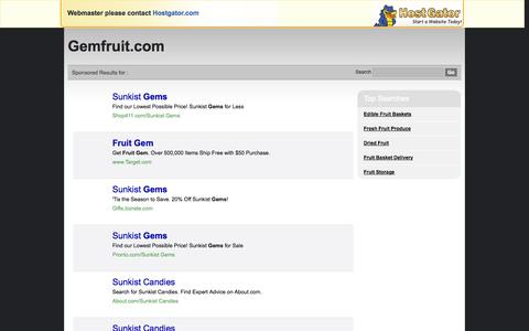 Screenshot of Site Map Page gemfruit.com - Contact Support - captured Oct. 2, 2014