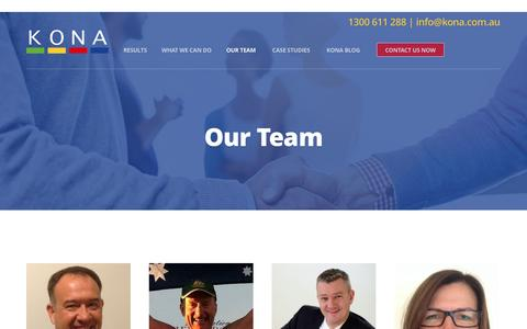 Screenshot of Team Page kona.com.au - Kona Group Team - captured Nov. 27, 2016