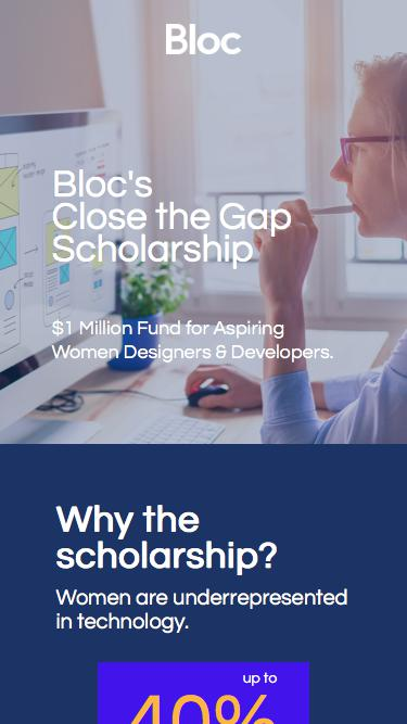 Bloc | Close the Gap Scholarship