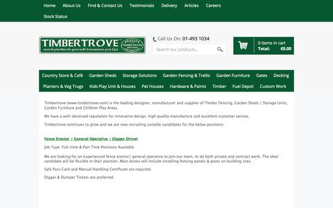 Screenshot of Jobs Page timbertrove.com - Timbertrove Careers - captured Oct. 20, 2018