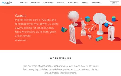 Careers - Adaptly
