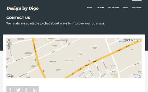 Screenshot of Contact Page designbydigo.com - Contact Us | Design by Digo - captured Sept. 30, 2014