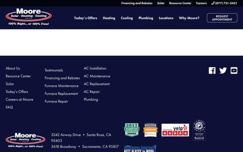 Screenshot of Locations Page moorehvac.com - Locations - Moore HVAC - captured Jan. 20, 2019