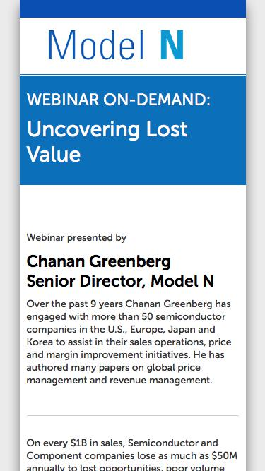 Uncovering lost value