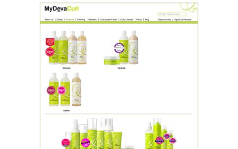 Screenshot of Products Page mydevacurl.com - MyDevaCurl | Products - captured Sept. 23, 2014