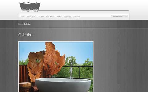 Screenshot of Products Page livingstonebaths.com - Livingstone Products |  Stone Resin Marble Composite | Luxury Freestanding  Baths - captured Oct. 2, 2014