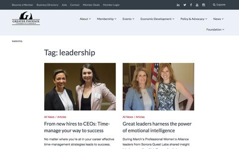 Screenshot of Team Page phoenixchamber.com - leadership Archives - Greater Phoenix Chamber of Commerce - captured Feb. 15, 2018