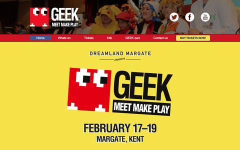 Screenshot of Home Page geek-play.com - Home - captured Feb. 1, 2017