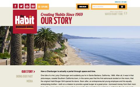 Screenshot of About Page habitburger.com - Creating Habits Since 1969 Our Story | Habit Burger - captured Oct. 26, 2014