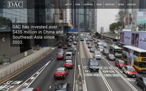 Screenshot of Home Page dacmllc.com - DAC Management - captured Sept. 13, 2015