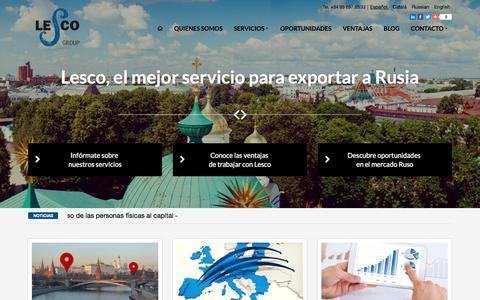Screenshot of Home Page lescogroup.es - Lesco Group - Consultoría Internacional - captured March 9, 2016