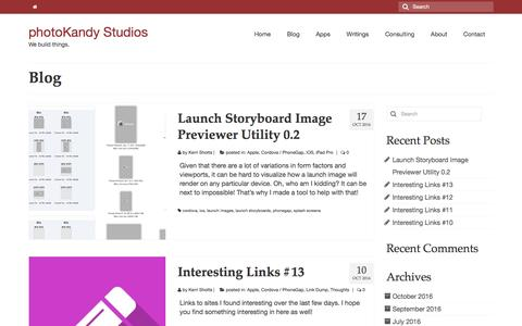Screenshot of Blog photokandy.com - Blog – photoKandy Studios - captured Nov. 15, 2016