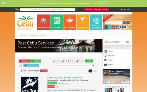 Screenshot of Services Page ceburepublic.com - Best Services in Cebu | Cebu Republic - captured July 11, 2016