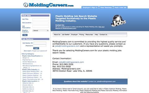 Screenshot of Contact Page moldingcareers.com - Contact Us - captured Oct. 1, 2014