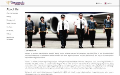 Screenshot of About Page sriwijayaair.co.id - Sriwijaya Air - captured June 20, 2017