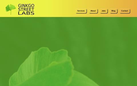 Screenshot of Signup Page ginkgostreet.com - Maintenance | Ginkgo Street Labs - captured Jan. 29, 2016