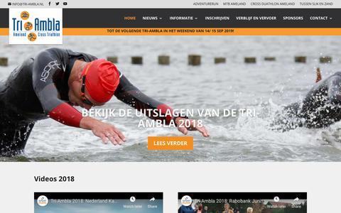 Screenshot of Home Page tri-ambla.nl - HOME | TRI-AMBLA - captured Oct. 27, 2018