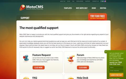 Screenshot of Support Page motocms.com - Customer Support - MotoCMS - captured Oct. 26, 2014