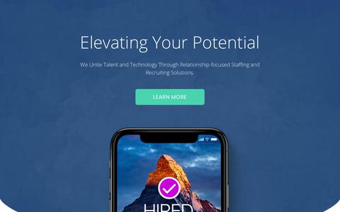 Screenshot of Home Page summitgroupsolutions.com - Summit Group Solutions – Elevating Your Potential - captured Oct. 18, 2018