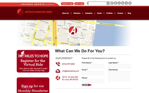 Screenshot of Contact Page abstraktmg.com - Contact Us | Abstrakt Marketing Group    | Abstrakt Marketing Group - captured Sept. 23, 2014